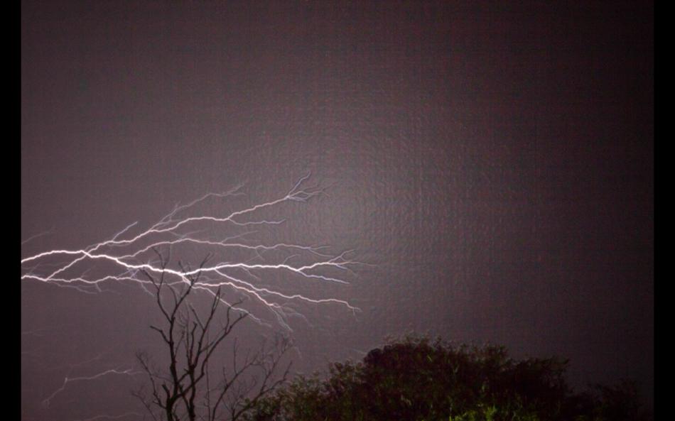 back yard storming!