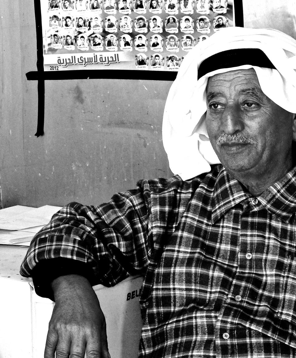 vendor in the Balata camp in West Bank, Palestine